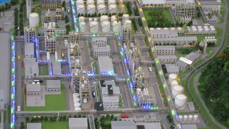 工业厂区沙盘